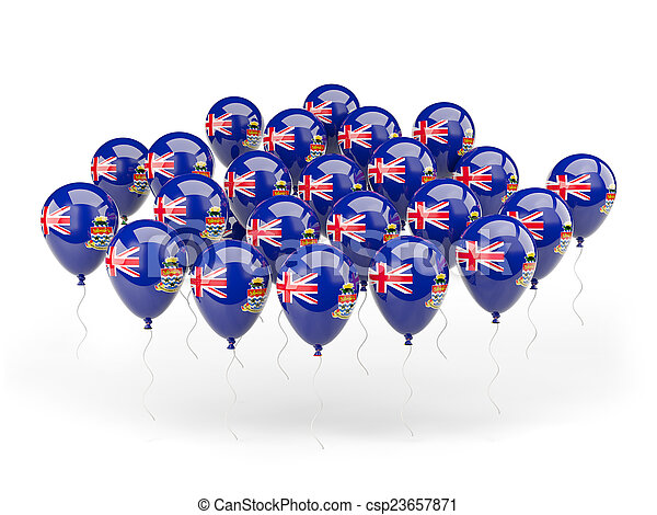 Balloons with flag of cayman islands - csp23657871