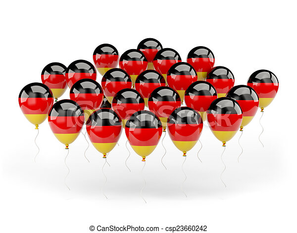 Balloons with flag of germany - csp23660242