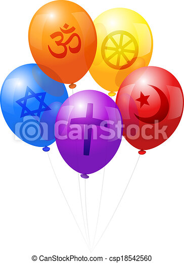 Balloons World Religions - csp18542560