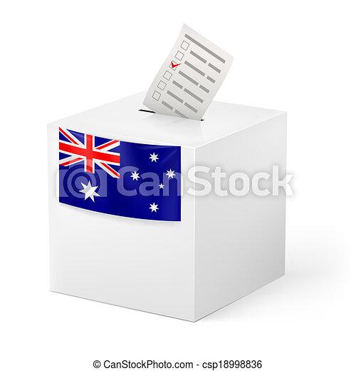 Ballot box with voting paper. Australia - csp18998836