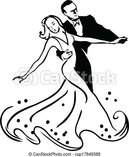 Ballroom Dancing Dancers Clipart Vector