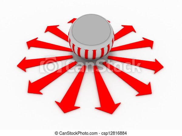 balls arrow direction - csp12816884