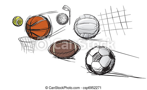 Balls for different kinds of sports - csp6952271