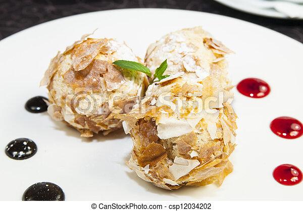balls of ice cream - csp12034202