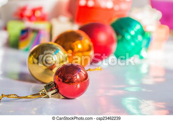 Balls on a background. - csp23462239