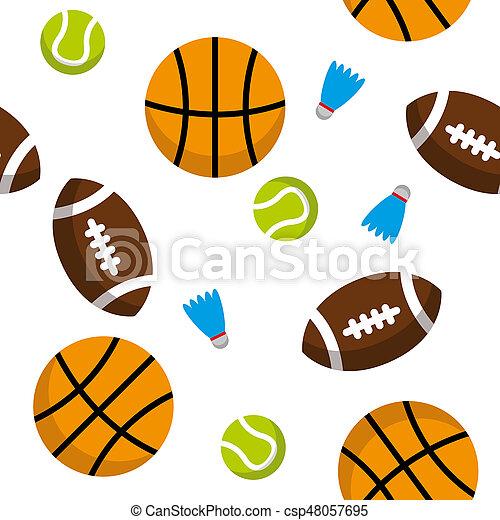Balls Pattern Seamless Pattern Of Sports Balls Basketballs Badminton Balls Tennis Balls And Football Balls Transparent