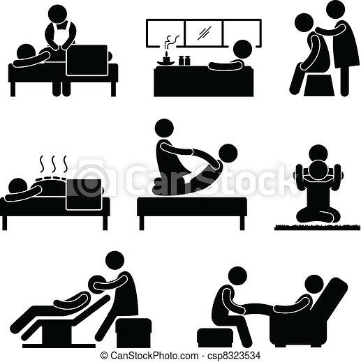 Terapia de masas del spa - csp8323534