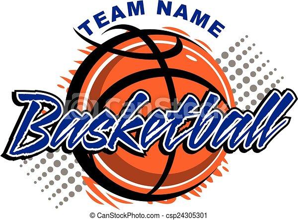 Diseño de baloncesto - csp24305301