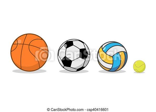 042f430118f Baloncesto, Volleyball., Set., Tenis, Football., Equipo De Deportes, Juegos  Pelota