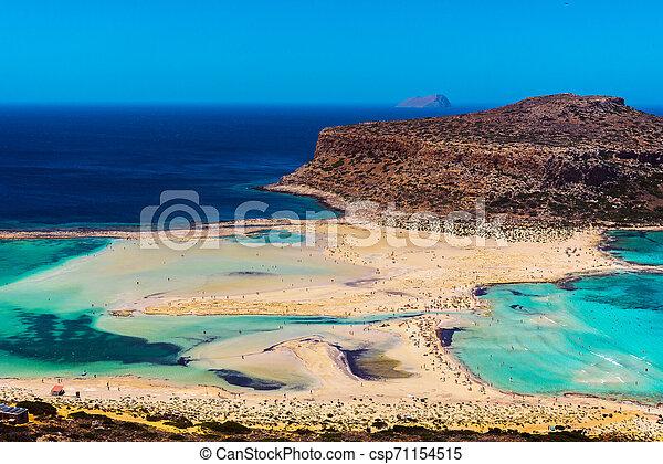 Balos Lagoon On Crete Island Greece