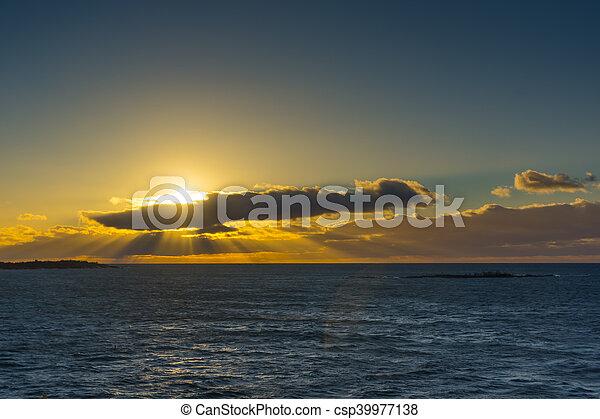 Baltic Sea at sunrise. - csp39977138