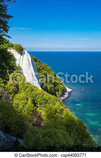 Baltic Sea coast on the island Ruegen in Germany - csp44093771