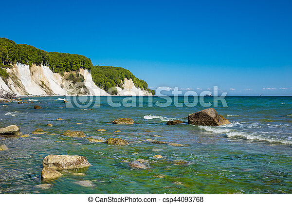 Baltic Sea coast on the island Ruegen in Germany - csp44093768