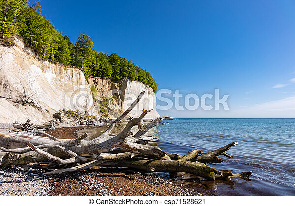 Baltic Sea coast on the island Ruegen in Germany - csp71528621