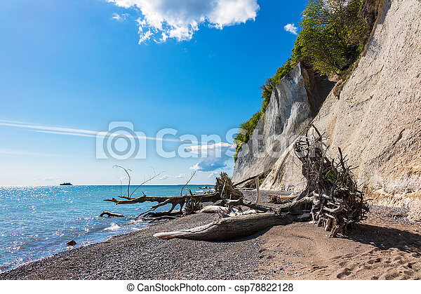 Baltic Sea coast on the island Ruegen in Germany - csp78822128