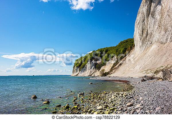 Baltic Sea coast on the island Ruegen in Germany - csp78822129