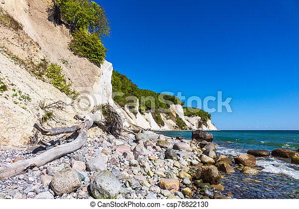 Baltic Sea coast on the island Ruegen in Germany - csp78822130