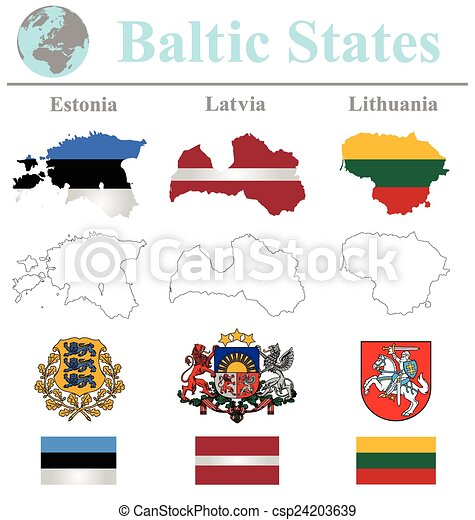 Baltic States Flags - csp24203639