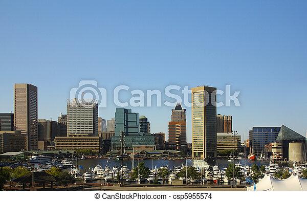 Baltimore Inner Harbor - csp5955574