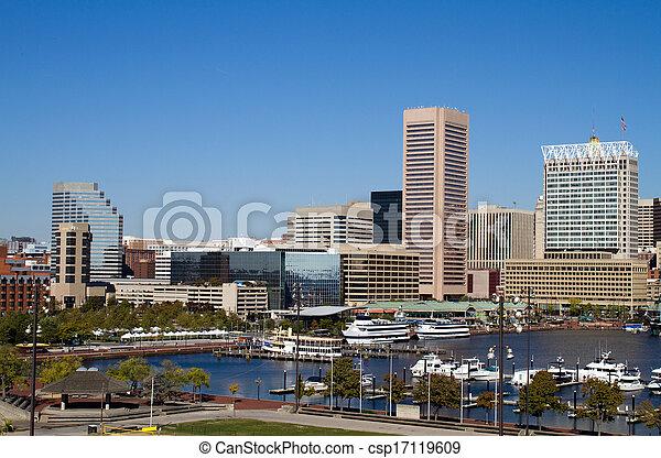 Baltimore Inner Harbor - csp17119609
