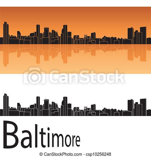 Baltimore skyline - csp10256248