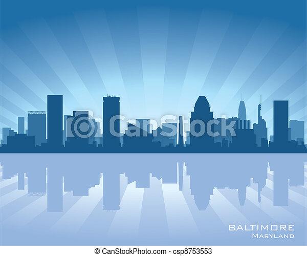 Baltimore skyline - csp8753553
