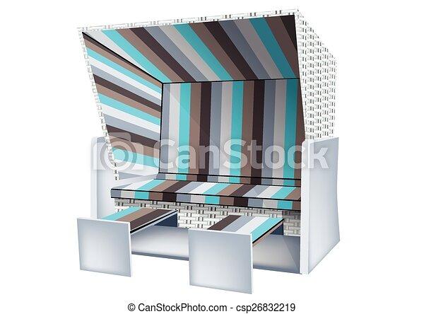 baltique, chaise, plage - csp26832219