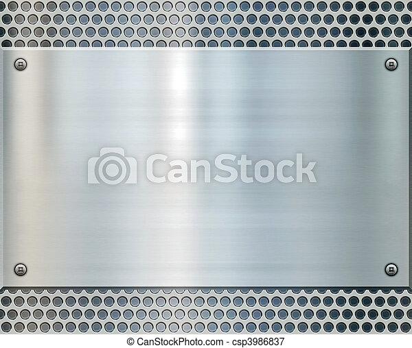 baluginante, metallo, fondo, struttura - csp3986837