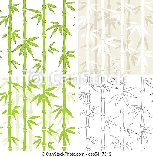 bambù, vettore, sfondi, seamless - csp5417813