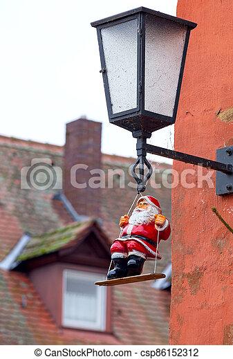 Bamberg. Christmas toy Santa Claus. - csp86152312