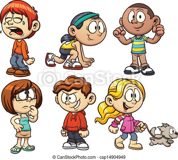 bambini, cartone animato - csp14904949