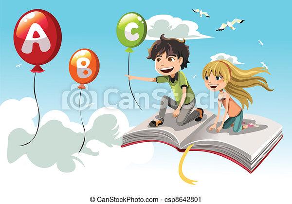 bambini, cultura - csp8642801