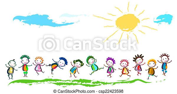 bambini, felice - csp22423598
