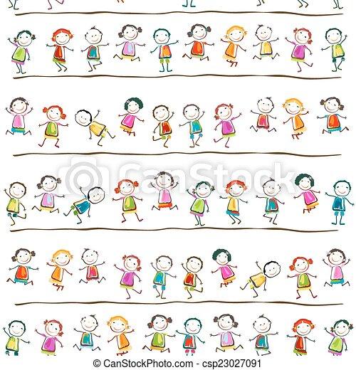bambini, felice - csp23027091