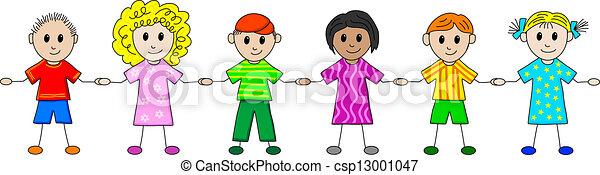 bambini, fila - csp13001047
