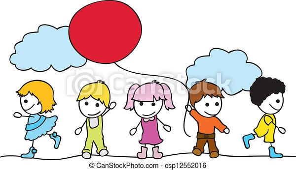 bambini, fondo - csp12552016