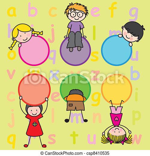 bambini giocando - csp8410535