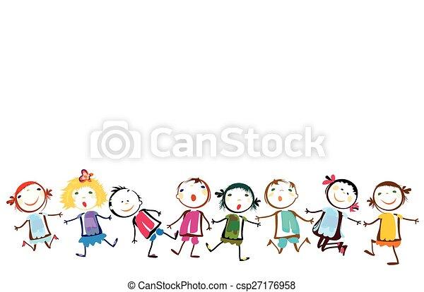 bambini, gioco, felice - csp27176958