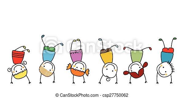 bambini, gioco, felice - csp27750062
