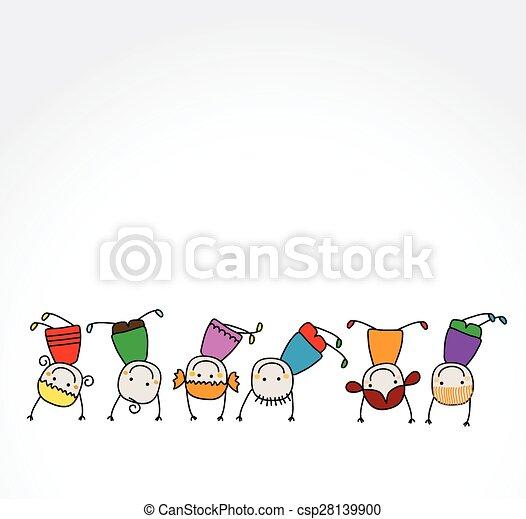 bambini, gioco, felice - csp28139900