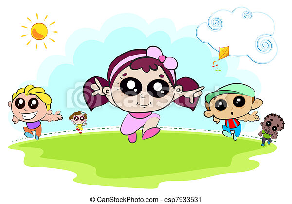 bambini, gioco - csp7933531