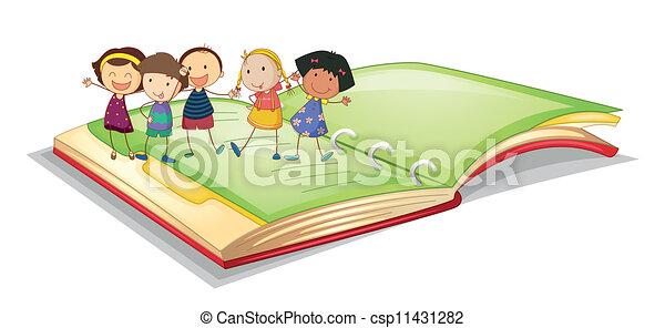 bambini, libro - csp11431282