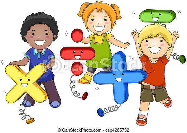 bambini, matematica - csp4285732