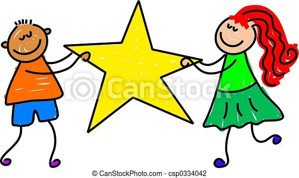 bambini, stella - csp0334042