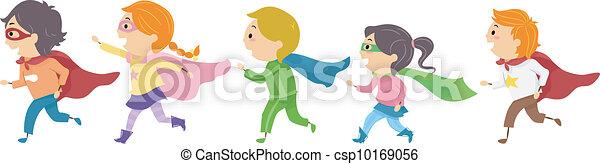 bambini, superhero - csp10169056