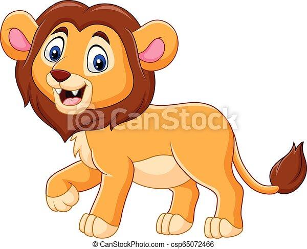 bambino, carino, leone, cartone animato - csp65072466