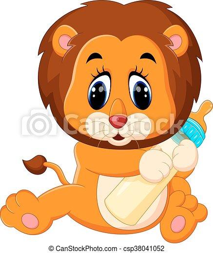 bambino, carino, leone - csp38041052