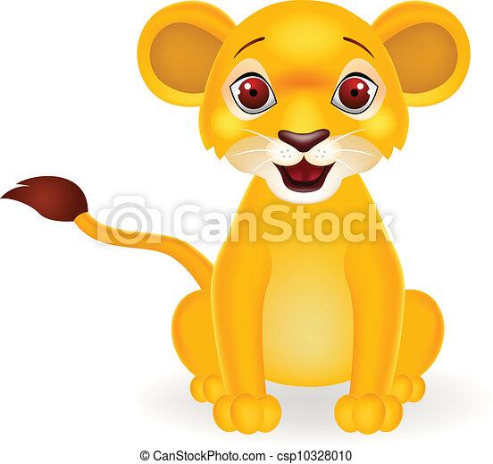 bambino, divertente, leone, cartone animato - csp10328010