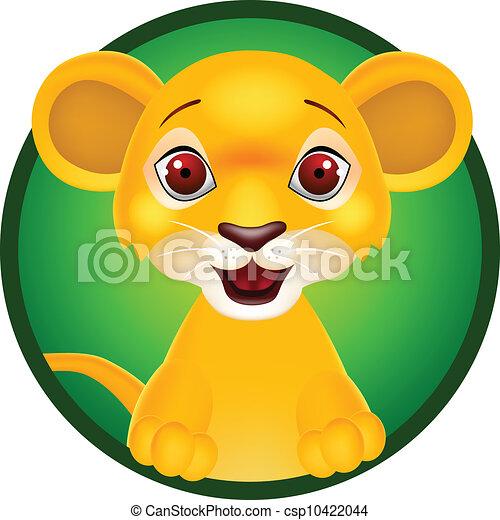 bambino, divertente, leone - csp10422044
