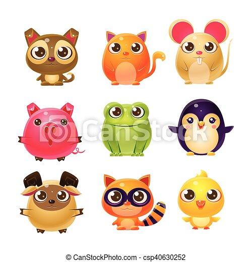Bambino Dolce Disegno Animali Girly Carino Set Animali